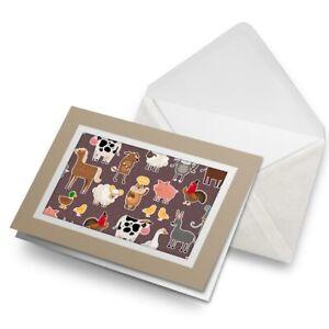 Greetings-Card-Biege-Cartoon-Farm-Animals-Farmer-2832