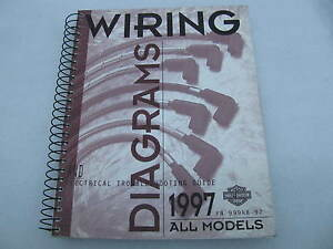 Details about 1997 Harley Davidson Wiring Diagrams Manual Catalog Book on