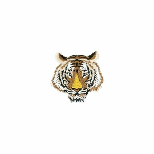 Iron On Brown Tiger Embroidery Applique Patch Sew Iron Badge