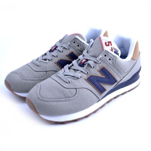 Scarpe Sneakers New Balance ML574YLB uomo beige blu tessuto canvas Saucony Asics