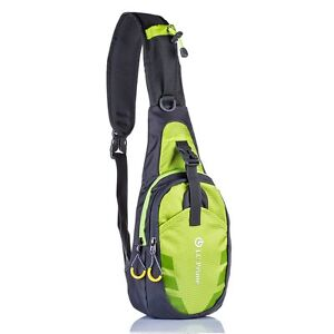 Sling Bag Chest Shoulder Gym Small Backpack Sack Satchel Outdoor Sport Bike Gree