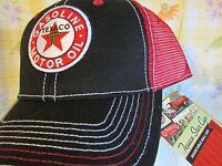 Texaco Star Gasoline Motor Oil Summer Red And Black Hat Adjustable Ball Cap