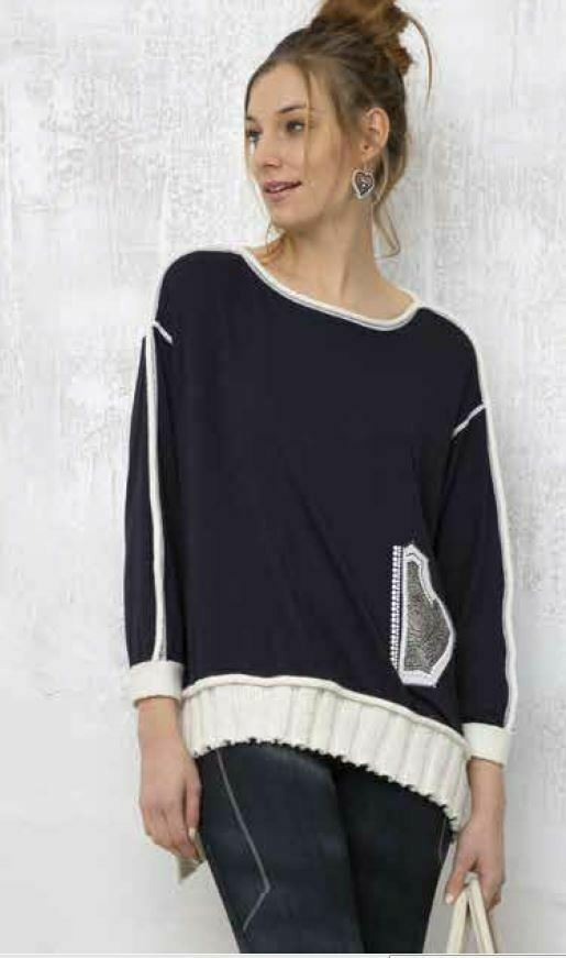 Elisa Cavaletti suéter azul manga larga camisa elw195044201  otoño invierno 2020  diseño único