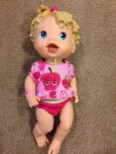2009 Baby Alive All Gone Doll Talking Blonde Hair No Accessories Talks GREAT