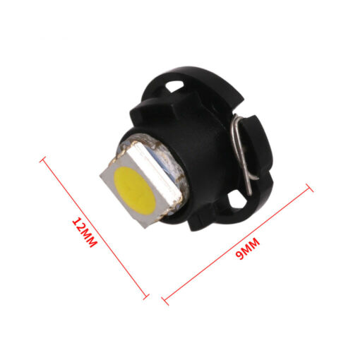 15Pcs White T5//T4.7 Neo Wedge LED Dash HVAC Heater Climate A//C Control Lights