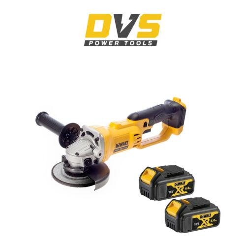 DEWALT DCG412N 18V XR 125MM ANGLE GRINDER 2 x DCB182 4Ah Battery