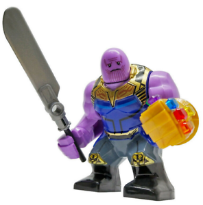 Marvel Big Figure Lego Moc Minifigure Gift For Kids Thanos End Game