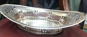 Superb-Adam-Style-Solid-Silver-12-Peirced-Dish-Chester-1914-Stunning-Quality