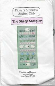 The-Sheep-Sampler-Elizabeth-039-s-Designs-Cross-Stitch-Kit-w-Beads-2000