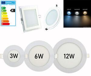 3W-6W-12W-18W-LED-Panel-Lampe-Deckenlampe-Einbau-Leuchte-Unterputz-Ultraslim
