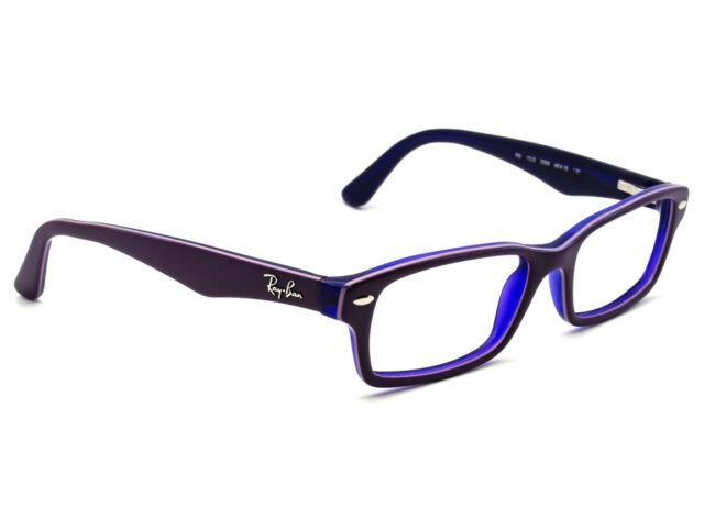 Ray Ban Eyeglasses RB 1530 3589 Purple Rectangular Frame 48  16 130 Small  357ca5217b8c9