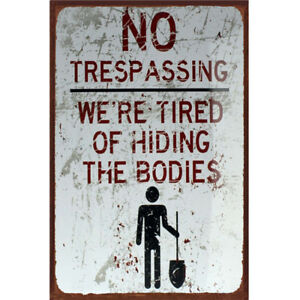 NO-Trespassing-Tin-Sign-Bar-Pub-Cafe-Home-Wall-Decor-Metal-Art-Poster-30x20-NP2Z