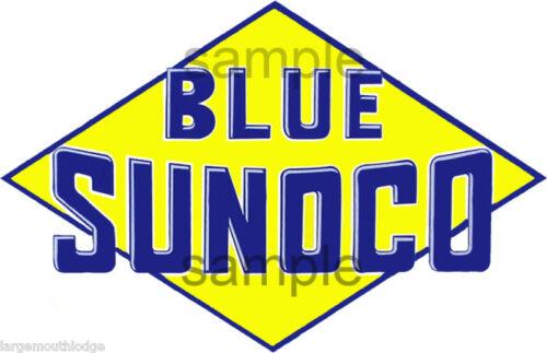 2 INCH BLUE SUNOCO YELLOW DIAMOND DECAL STICKER