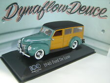 Minichamps 1 43 1940 Ford De Luxe 100 Year Anniversary Heart & Soul