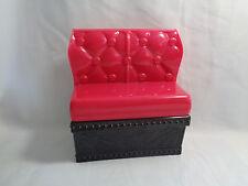 2012 Mattel Monster High Dark Hot Pink & Black Sofa Couch Seat