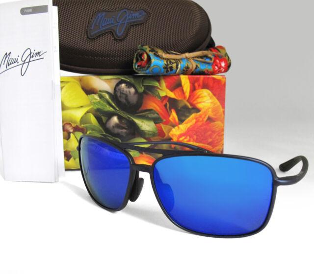 fa734e3f9f New Maui Jim Kaupo Gap Matte Blue   Blue Hawaii Polarized Sunglasses  B437-03M