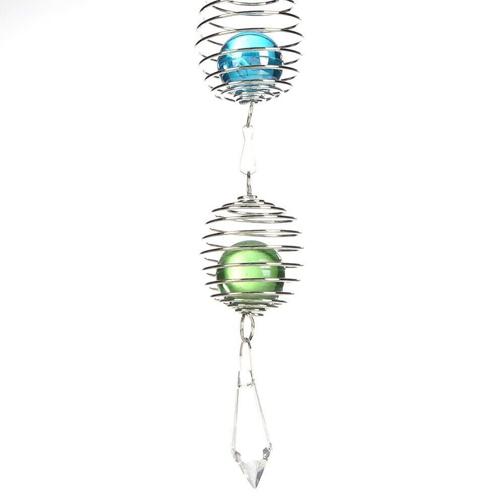 Cute Wind Chimes, Metal Music Spiral Ball Wind Indoor Outdoor