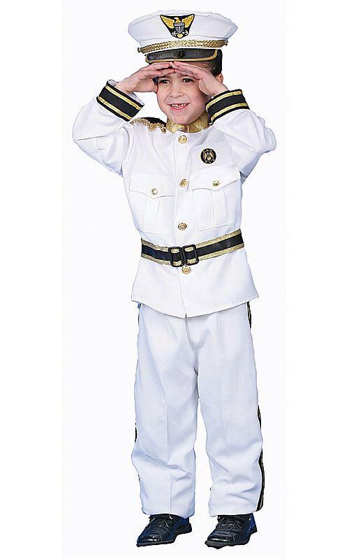 Deluxe Navy Admiral Costume Set Fancy Dress Role Play Set