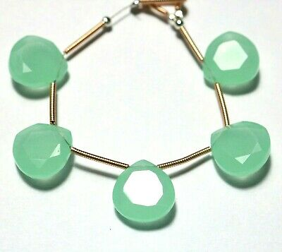 Natural Aqua Chalcedony Heart Slices For Sliced Jewelry 6mm To 25mm Making Size Size Available With AAA Chalkony
