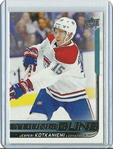 2018-19-Upper-Deck-Young-Guns-Jesperi-Kotkaniemi-Montreal-Canadiens