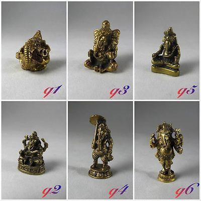 New Ganesh Brass Lord Ganesha Miniature Figurine Brass Decor Collectables Gift