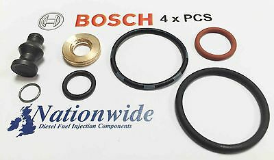 4 pcs Genuine Bosch Injector Seals Kit VW Audi Seat Skoda 1417010997 038198051B