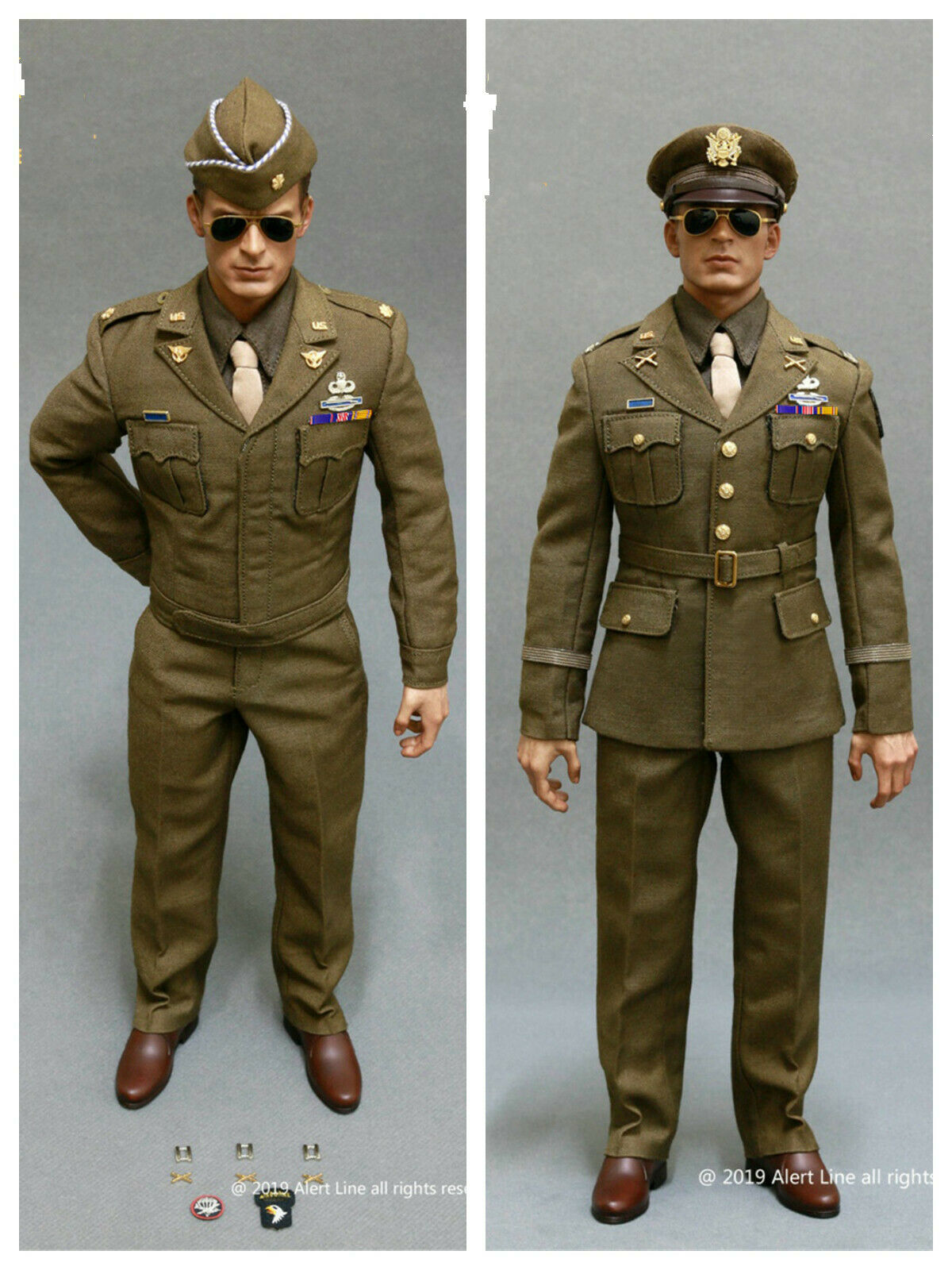 Pre-order 1 6 Alert Line WWII U.S.Army Officer Uniform Suit AL100028