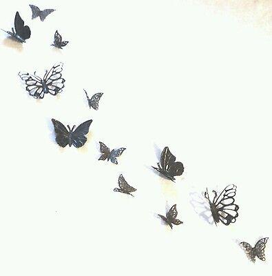 18 Metall Schmetterlinge Bronze Wanddeko Wandtattoos Wandobjekte Deko Geschenk