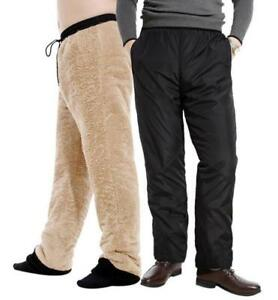 Mens-Winter-Casual-Fleece-Lined-Pants-Thick-Warm-Loose-Long-Sports-Trousers-New