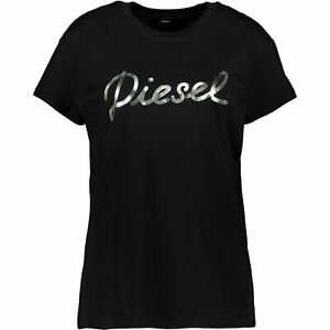 Genuine-Diesel-Womens-dark-black-blue-Sully-T-Shirt-Size-Medium-Brand-New