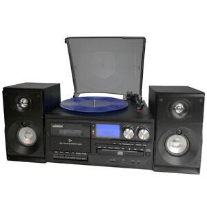 Lenoxx Bluetooth Turntable Player/Recorder/MP3 decoder/Cassette/AM/FM Radio BLK