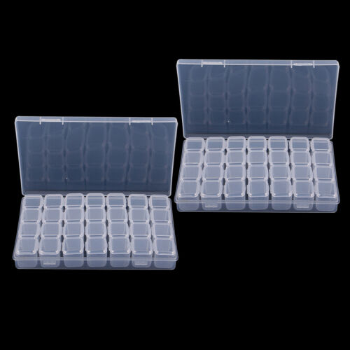 56x Clear Jewelry Adjustable Box Case Container Organizer Storage Beads DIY