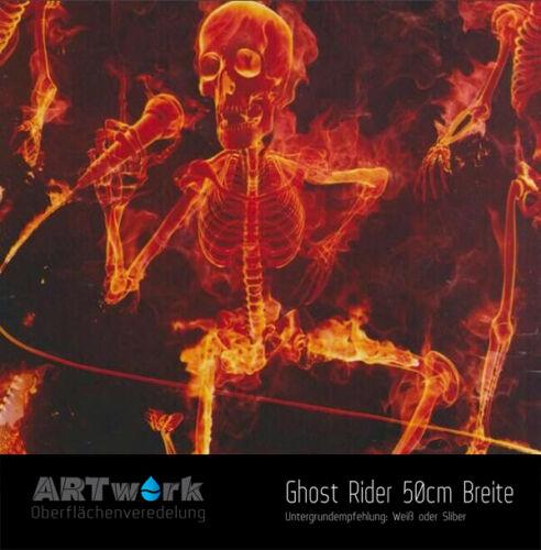 Wassertransferdruck Folie WTD Hydrographic Starterset 2m Ghost Rider+Aktivator