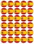 Espagne drapeau espagnol voyages Comestible Cupcake Toppers plaquette papier Fairy Cake Topper