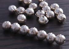 Sterling Silver Bench Made Beads 8mm (pack of 10 beads) DB4B