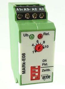 BTR Netcom MARk-E08 Zeitrelais Time Relay 24VUC 230V~ 0,15s...10h EV RV LED