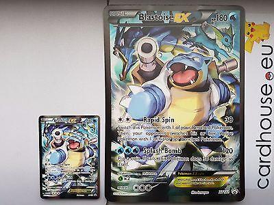 Blastoise EX XY122 JUMBO OVERSIZED Holo Pokemon Card