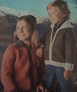 FK11-Knitting-Pattern-Children-039-s-Super-Chunky-Knit-Cardigans-22-32-034-Chest