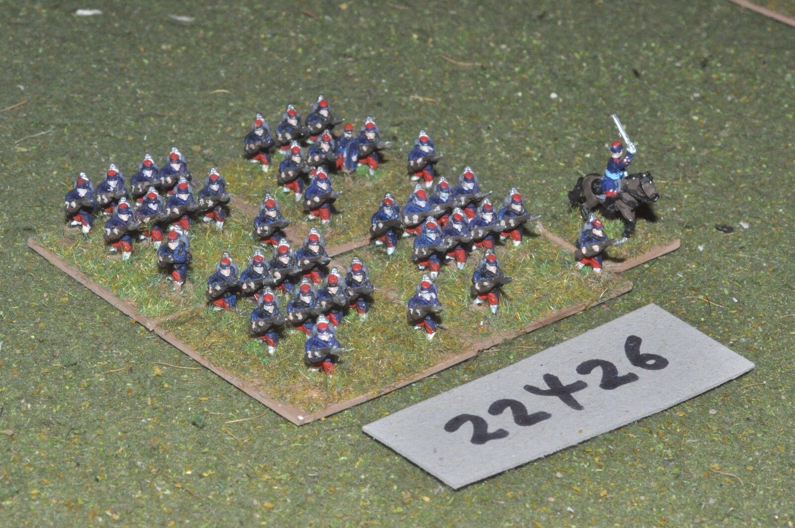 10mm 19th century   french - french line 40 figs inf - inf (22426)