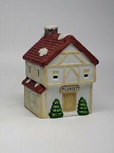 Ceramic-Village-Holiday-Decor-Christmas-Florist-shop-w-Light-hole-RETAILER