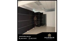 HURBAN RENTA oficina en  planta alta  en el Norte.