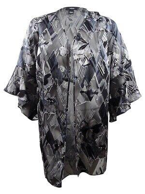 Alfani Womens Black Ribbed Knit Embellished Tunic Sweater Top Plus 1X BHFO 6710
