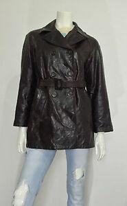 Giacca-Santacroce-Firenze-vera-pelle-w28-tg-42-marrone-jacket-leather-T464