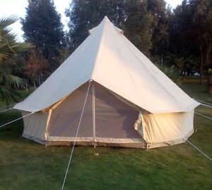 Australia-Warehouse-Available-Canvas-or-Oxford-Bell-Tent-Waterproof-Tent-Shelter