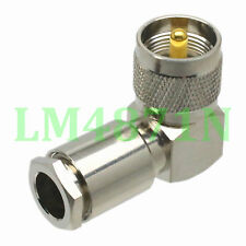 1pce Connector UHF male PL259 90° clamp RG8 RG213 LMR400 7D-FB cable right angle