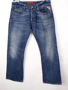 Replay Herren Billstrong Gerades Bein Jeans Größe W36 L32 BCZ201