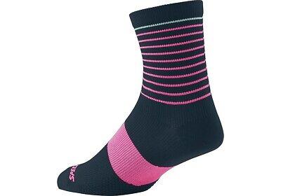Specialized Women/'s SL Mid SocksNavy /& PinkXS//S