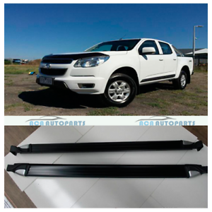 For-Holden-Colorado-2012-2018-Running-Boards-Aluminum-Side-Steps-Matte-Black