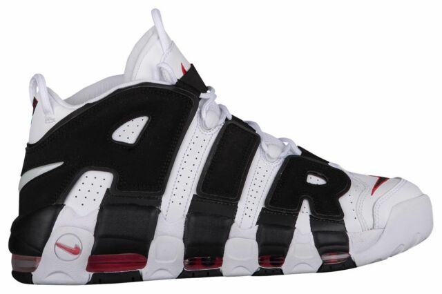 93ee88a7e4 ... coupon code nike air more uptempo mens white black varsity red 14962105  sz 15 b5bc1 75001