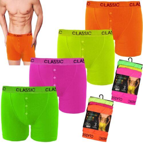 3 6 12 Coppie Di Da Uomo Neon Boxer intimo elastico in vita Hipster